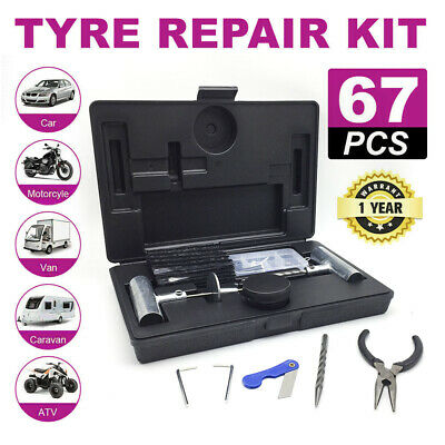 4WD Offroad 67PCS Tyre Puncture Repair Recovery Kit Heavy Duty Plugs Tubeless