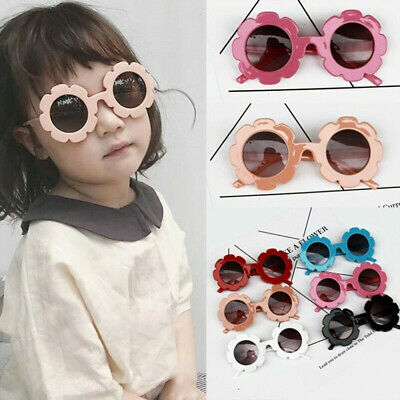 Cute Baby Boy Girl Flower Frame Goggles Toddler Infant UV400 Sunglasses