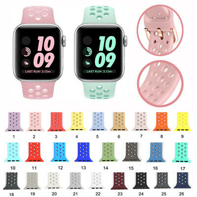 Remplacement Bracelet Silicone Bande pour Apple Watch Serie 4 3 2 1 38/42mm.