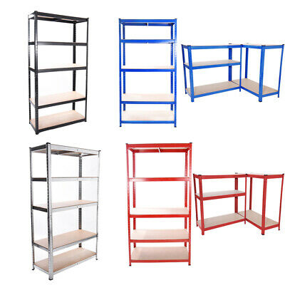 5 Tier Heavy Duty Metal Shelving Industrial Unit Racking Garage Shop Shelves UK
