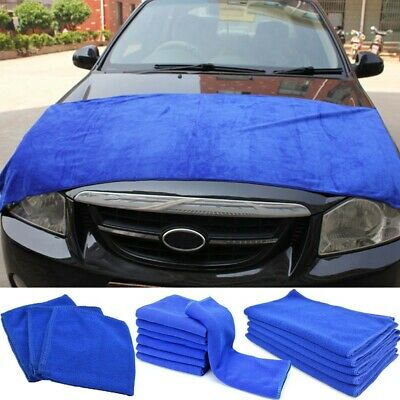 Large Absorbent Microfiber Towel Car Home Kitchen Washing Clean Wash Cloth Blue