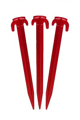 Camping Tent Pegs Plastic (Red)