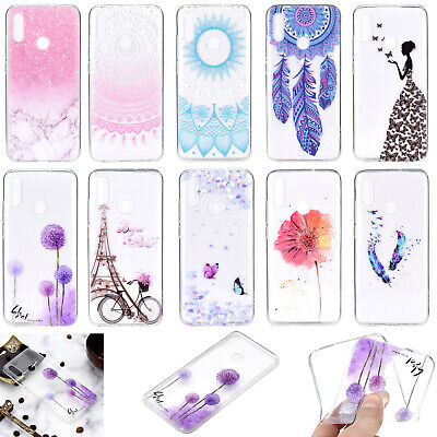 Ultra Thin TPU Clear Pattern Silicone Back Case Cover For Huawei Y5 Y7 Y9 2019