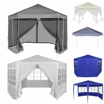 Outdoor Gazebo Marquee Garden Patio Pavilion Canopy Party Wedding Tent Hexagonal