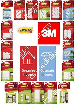 3M COMMAND Strips Large, Medium, Small For Damage Free Picture / Poster Hanging