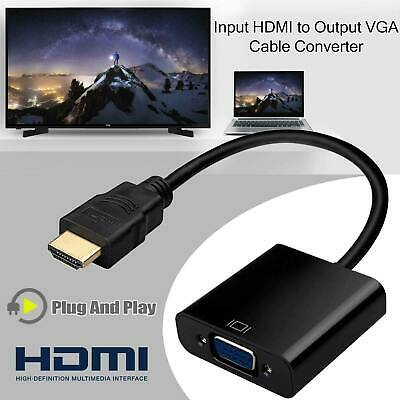 HDMI Male To VGA Female Converter Adapter 1080P / HDMI Female Joiner AUS
