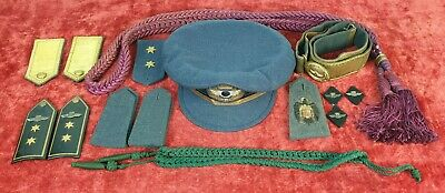 Cap And Insignia For Gala Costume. Air Force. Spain. 1936/1939.