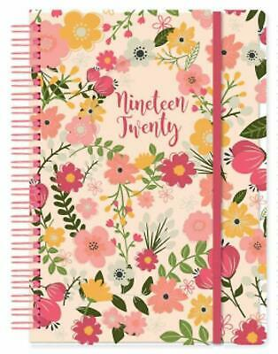 Flowers 2019-2020 Academic A5 One Day To a Page Student Diary Spiral Wire Bound