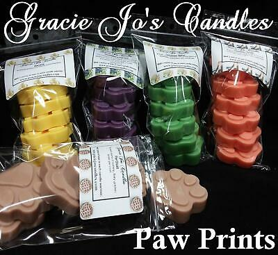 Candle Wax Tarts Melts 2x Animal Paw Prints Home Primitive Rustic Country Scents