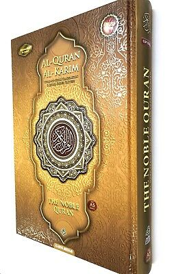A5 NOBLE Quran Arabic to English Colour Tajweed MAQDIS TRAVEL COMPACT SMALL NEW