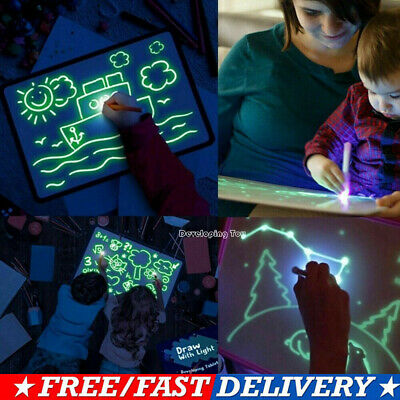 Draw With Light Fun And Developing Toy Drawing Board Magic Draw Educational Hot!