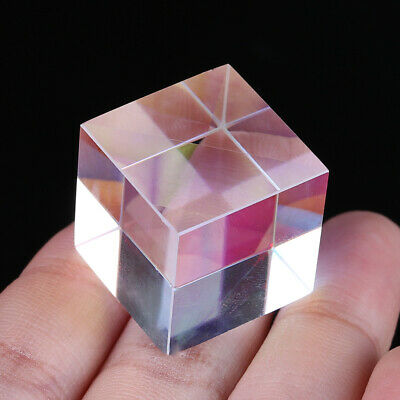 Colorful Combiner Splitter Cross Dichroic Cube RGB Prism Optical Glass Prism New
