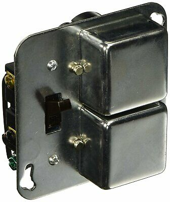 STY-Twin Fuseholders Plus 2 Switches 4in SquareBoxCoverUnit 1/2Hp 15A/125VAC-1EA