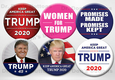 Donald Trump 2020 Variety Pack Buttons - Set of six