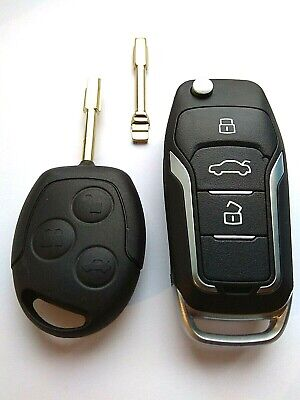 Ford Focus Mondeo Transit Remote Flip Key Fob LATEST Upgrade ID60 CHIP 433mhz