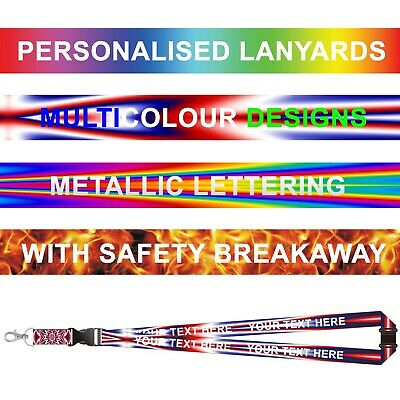 Printed or Pattern Lanyards - Personalised custom Lanyards neck straps with Text
