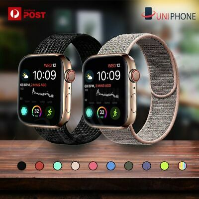Sport Nylon Woven Loop Strap iWatch Band 38mm 42 for Apple Watch Series 4 3 2 1