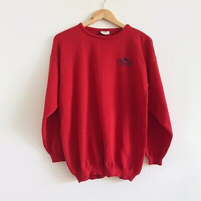Vintage Red 5th Avenue Knit Preppy Jumper Sweater
