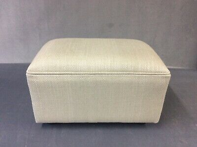 Upholstered footstool / pouffe / seat in Laura Ashley Edwin sable