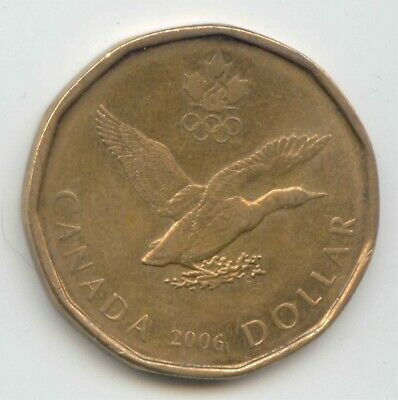 Canada 2006 Olympics Lucky Loonie Canadian One Dollar $1 EXACT COIN SHOWN