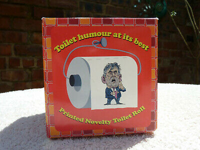 Novelty Toilet Roll 2 Ply Tissue Gordon Brown Funny Joke Rare In This Condition
