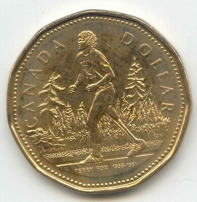 Canada 2005 Loonie Canadian One Dollar $1 TERRY FOX EXACT COIN unc ~