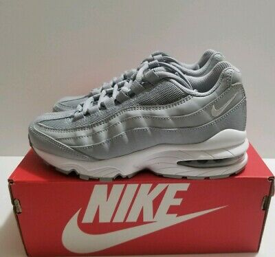 Details about NIKE AIR MAX 95 GS WHITE PURE PLATINUM METALLIC SILVER 905348 104 Youth Big Kids