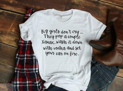 Big girls don't cry... Women's White T-shirt with FREE SHIPPING