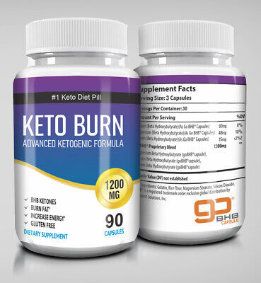 ☀ Best Keto Diet Pills 1200mg Burn Fat- Advanced Ketosis Weight Loss 90 Capsules