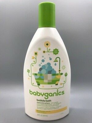 Babyganics Bubble Bath Chamomile Verbena Tear Free, 20 fl. oz. / 591 ml NEW