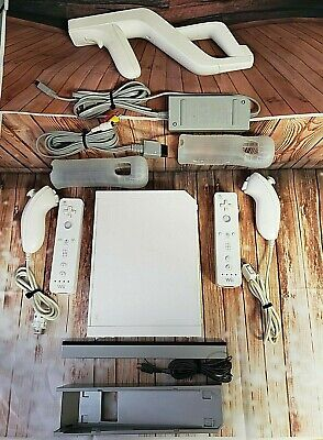 Nintendo Wii Console White System RVL-001 Complete Bundle Tested and Working