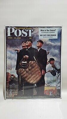 Rare1949 Saturday Evening PostTough Call -  (Norman Rockwell Cover Art) VTG