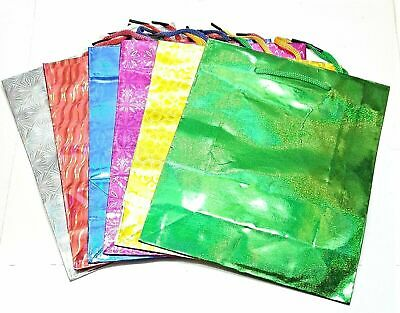 """Gift Bags 17"""" X 21"""" Holographic Shiny Print Paper Party Present Birthday Wedding"""