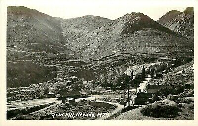 RPPC Postcard; Gold Hill NV in 1929 Mining Town Storey County unposted