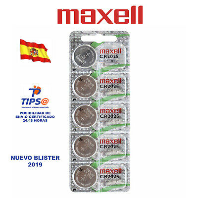 X5 Pilas Boton Maxell Cr2025 Original Bateria Cr2025 De Litio 3V Lithium Battery