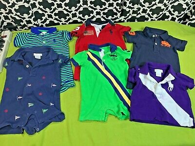 Ralph Lauren Polo One-Piece Polo Infant Boys Clothing Lot of 6 - Sz. 6 Months
