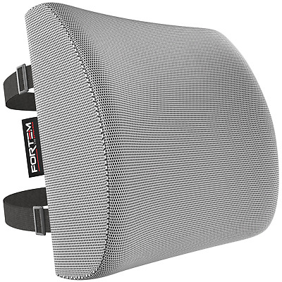 FORTEM | Office Chair Grey Lower Back Cushion Memory Foam Lumbar Support Pillow
