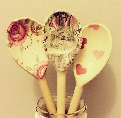 Emma Bridgewater Themed Set Of 3 Utensils - Rose & Bee, Bunny & Pink Hearts