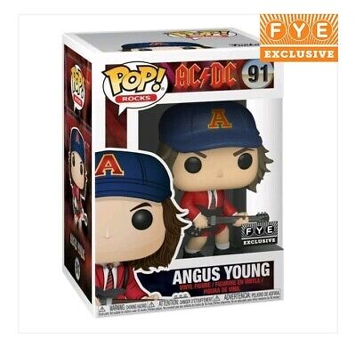Funko Pop! AC/DC Angus Young With Guitar Red Jacket Fye Exclusive  ROCKS
