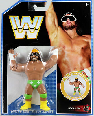Wwe Macho Man Randy Savage Wwf Retro App Mattel Series 9 Wrestling Action Figure
