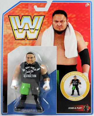 Wwe Samoa Joe Wwf Retro App Mattel Series 9 Wrestling Action Figure Basic Aew