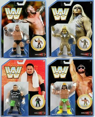 Wwe All 4 Complete New Wwf Retro App Mattel Series 9 Wrestling Action Figure Aew