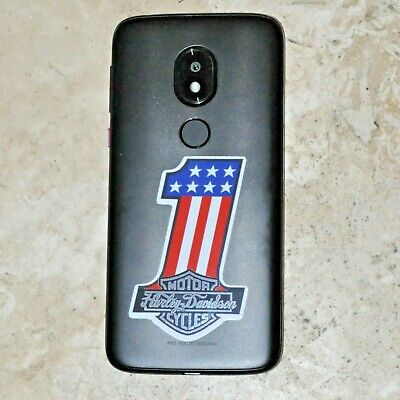 Two (2) Harley-Davidson #1 American Flag  Decal Stickers *Free Shipping