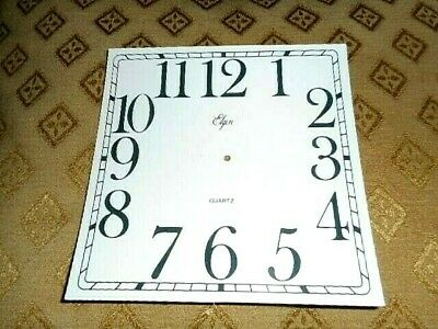 "'Elgin' Mantle/Shelf Paper Clock Dial - 5"" M/T - MATT WHITE - Parts/Spares"
