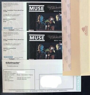 Entradas Concierto MUSE en Madrid 26 Julio. Entrada General Pista