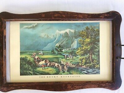 "1974 Vintage Currier /& Ives FARM LIFE /""FARMERS HOME AT HARVEST/"" COLOR Lithograph"