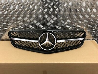 Mercedes W204 C Class C63 Style Gloss Black Chrome Grille Saloon Coupe Estate