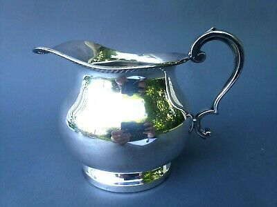 Vintage Gadrooned Silver Plate on Copper Pitcher