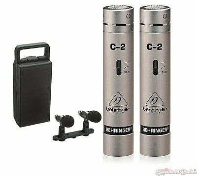 Behringer C-2 Two Matched Studio Condenser Microphones w/ Case & Twin Holder