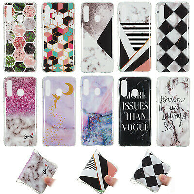 Soft Silicone Marble TPU Phone Case Cover For Samsung M30 A60 A50 Huawei Y5 2019